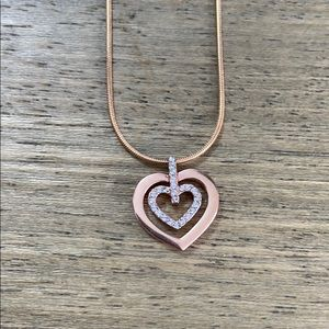 Swarovski Rose Gold Heart Necklace